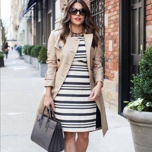J. CREW Double stripe Cap sleeve dress